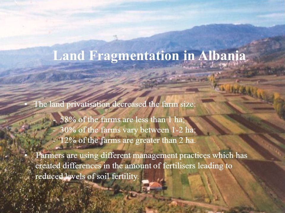 Land Fragmentation in Albania