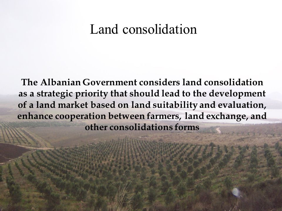Land consolidation
