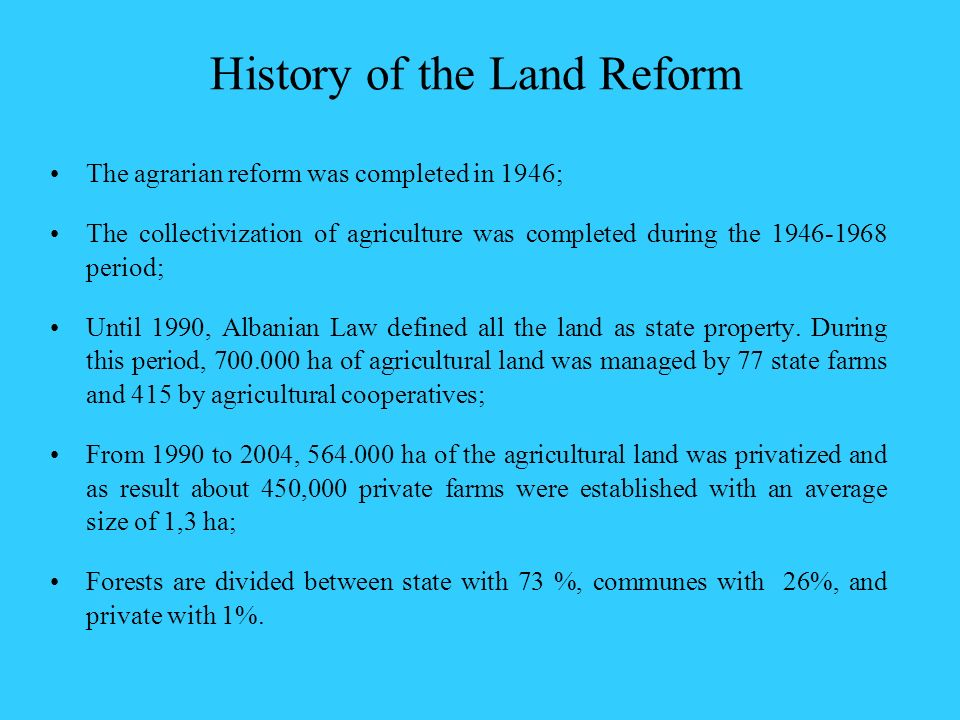 History of the Land Reform