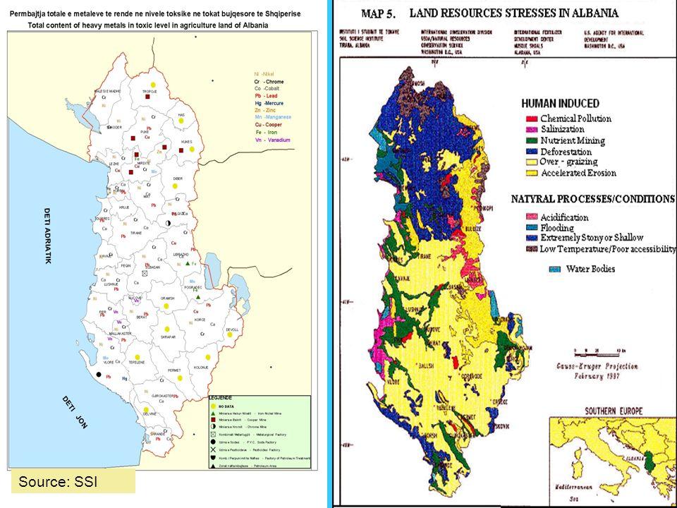 Deforestation and overgrazing.
