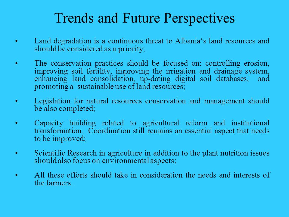 Trends and Future Perspectives