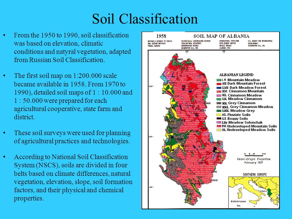 Overview of soil information and soil protection in for Soil classification