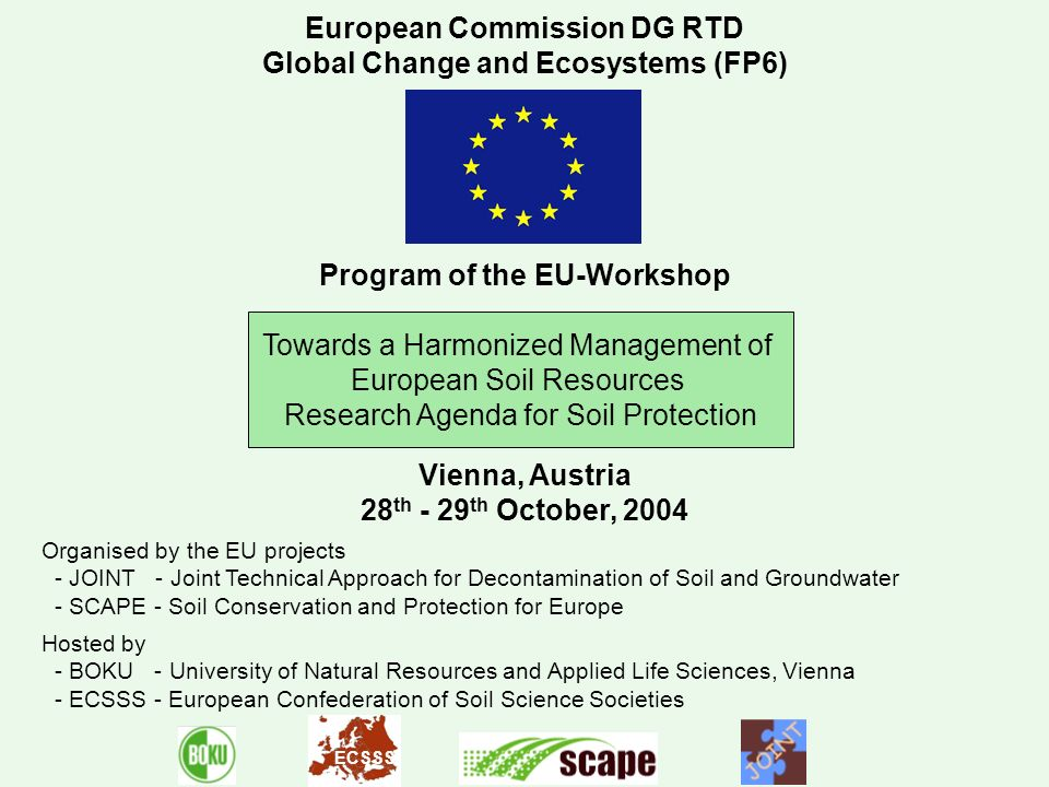 European Commission DG RTD Global Change and Ecosystems (FP6)
