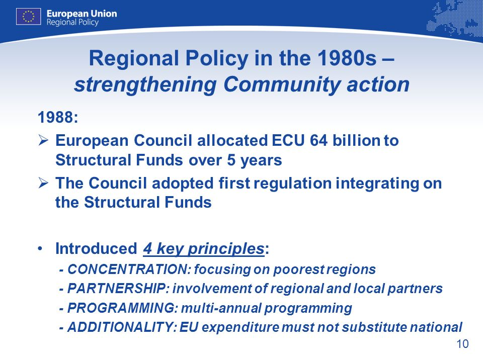 Regional Policy in the 1980s – strengthening Community action