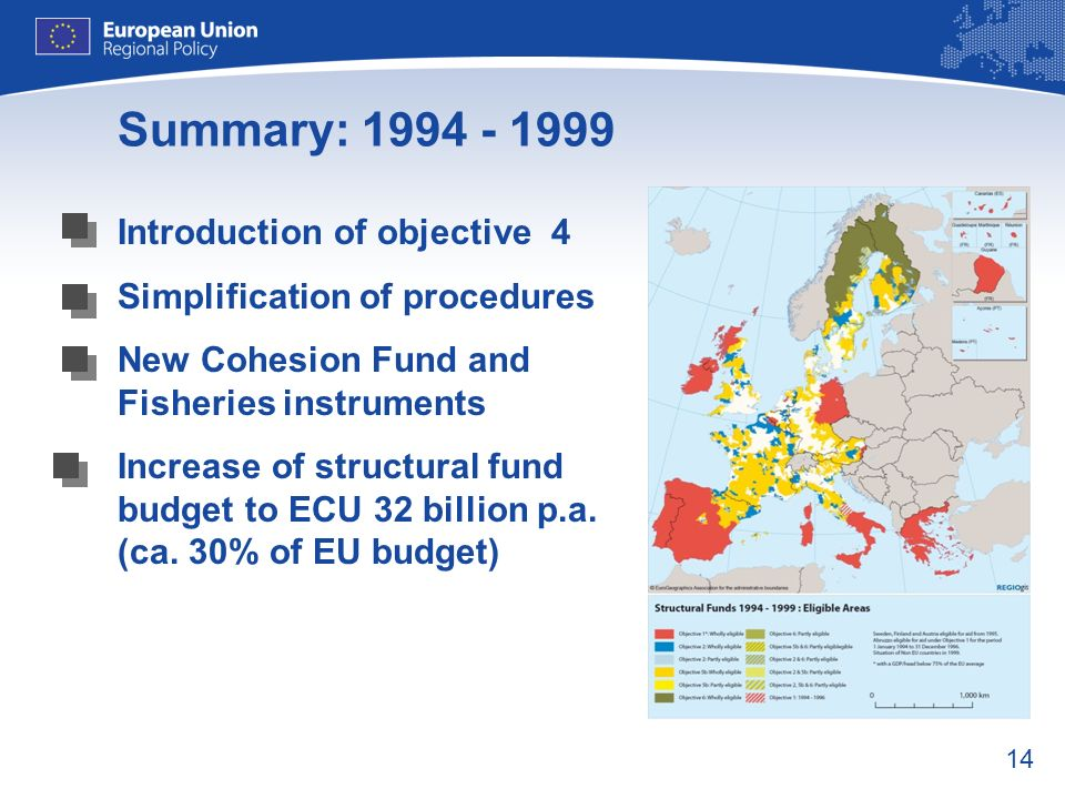 Summary: 1994 - 1999 Introduction of objective 4