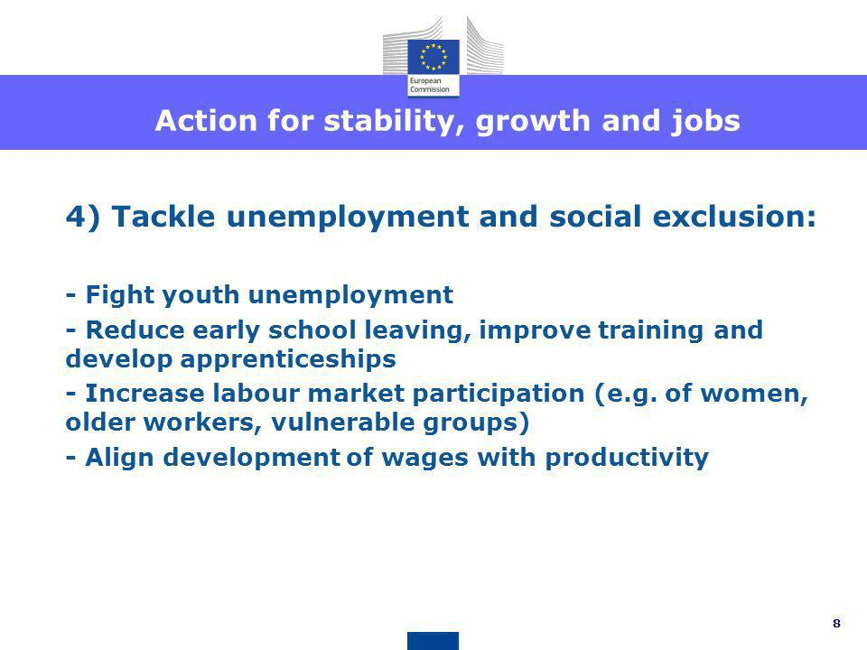 Action for stability, growth and jobs