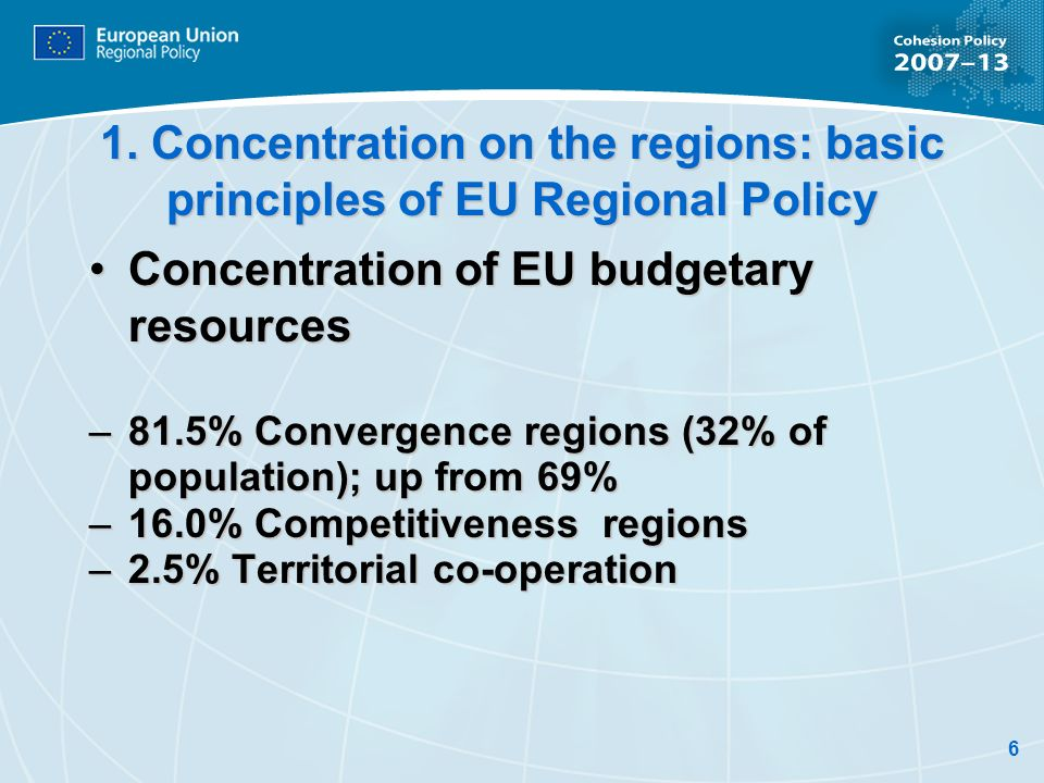 Concentration of EU budgetary resources