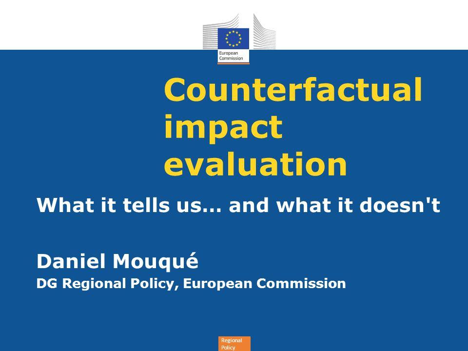 Counterfactual impact evaluation
