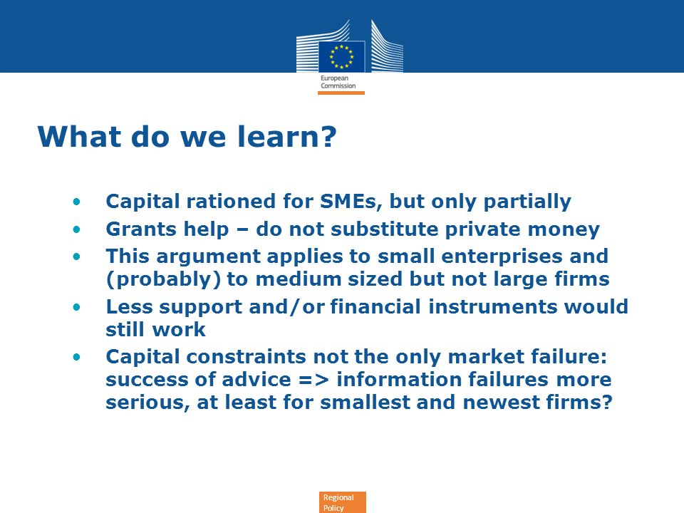 What do we learn Capital rationed for SMEs, but only partially