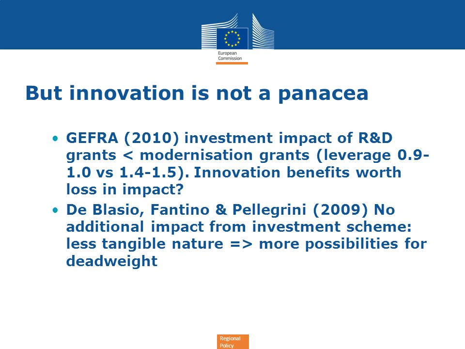 But innovation is not a panacea