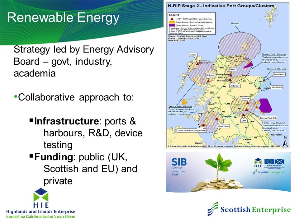 Renewable Energy Strategy led by Energy Advisory Board – govt, industry, academia. Collaborative approach to: