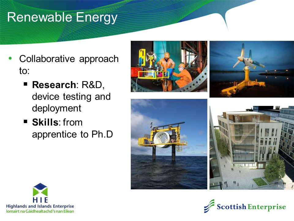 Renewable Energy Collaborative approach to:
