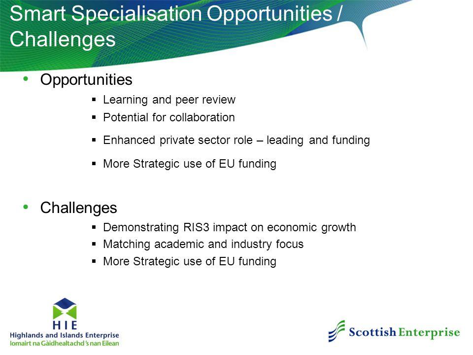 Smart Specialisation Opportunities / Challenges