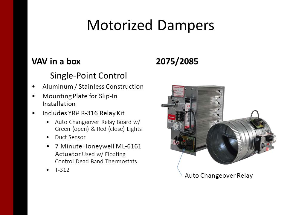 Single Point Zoning Damper Choices Ppt Download