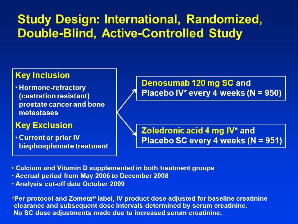 Placebo and Active Controlled, Double Dummy Study to ...