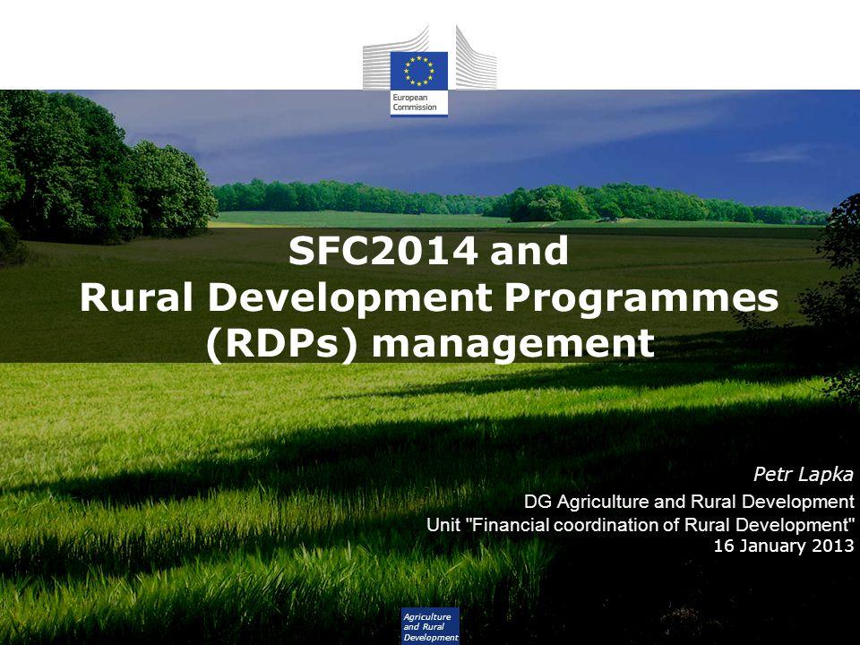 SFC2014 and Rural Development Programmes (RDPs) management