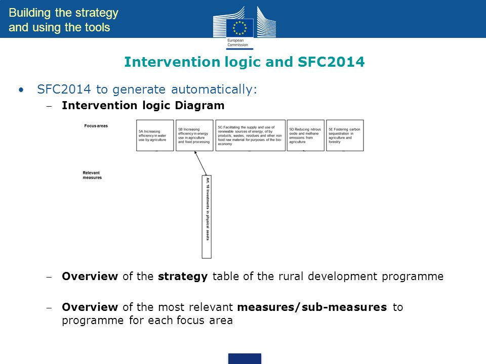 Intervention logic and SFC2014