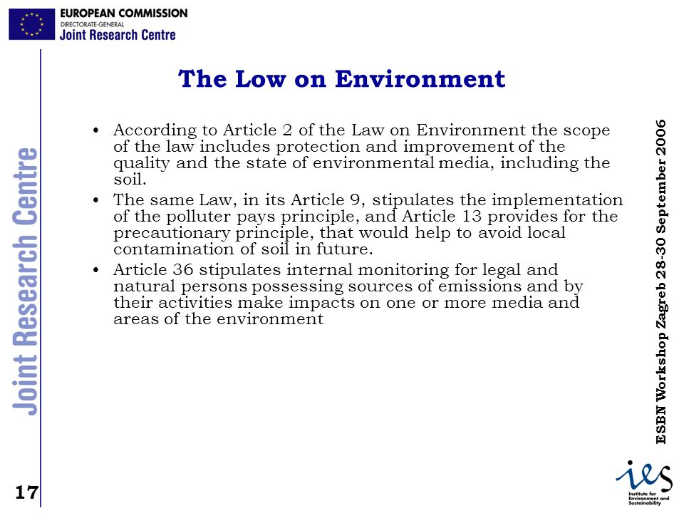 The Low on Environment