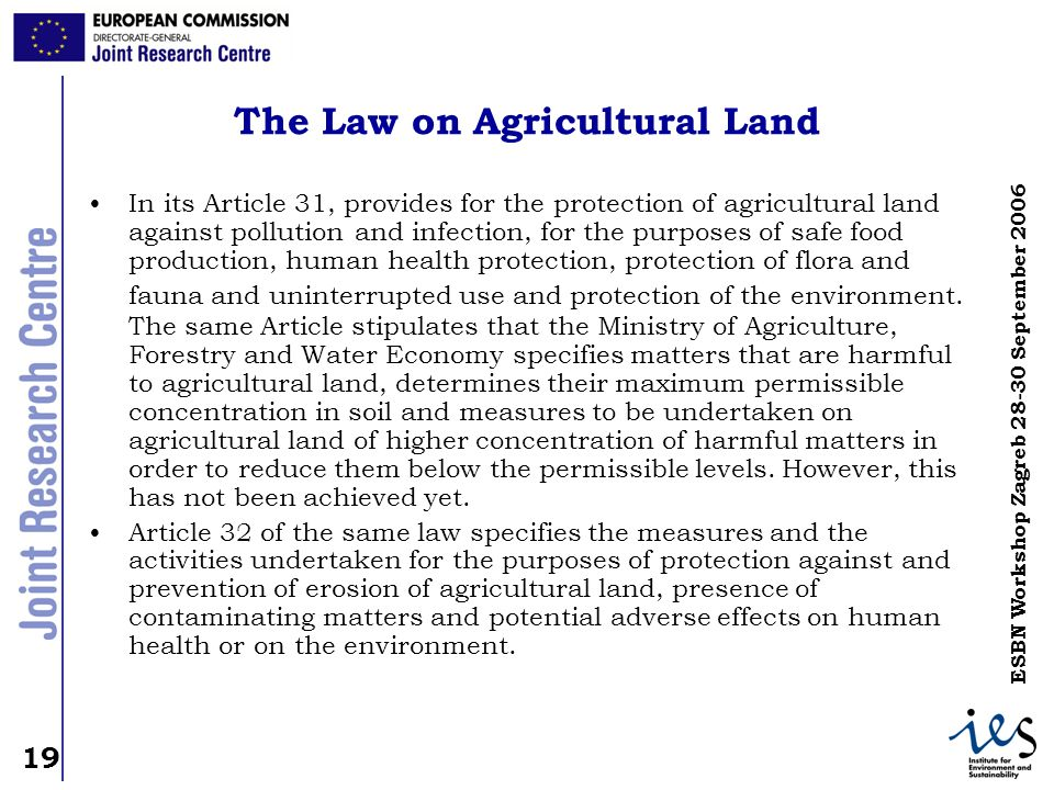The Law on Agricultural Land