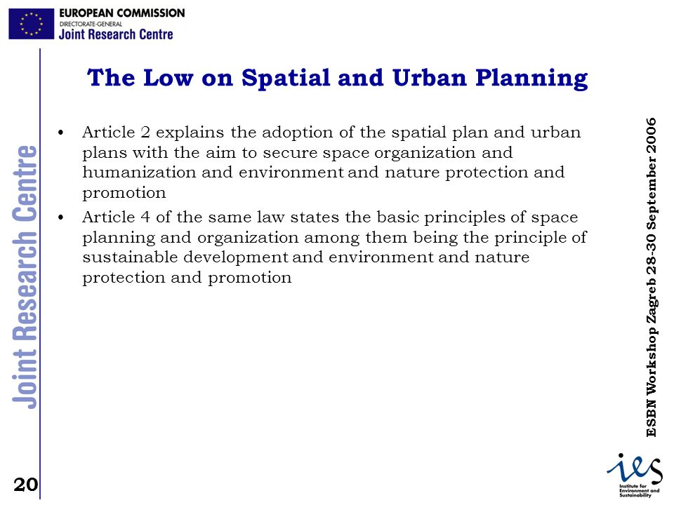 The Low on Spatial and Urban Planning