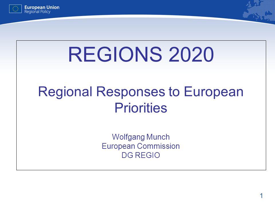 REGIONS 2020 Regional Responses to European Priorities Wolfgang Munch European Commission DG REGIO