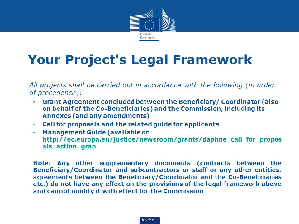 Your Project s Legal Framework