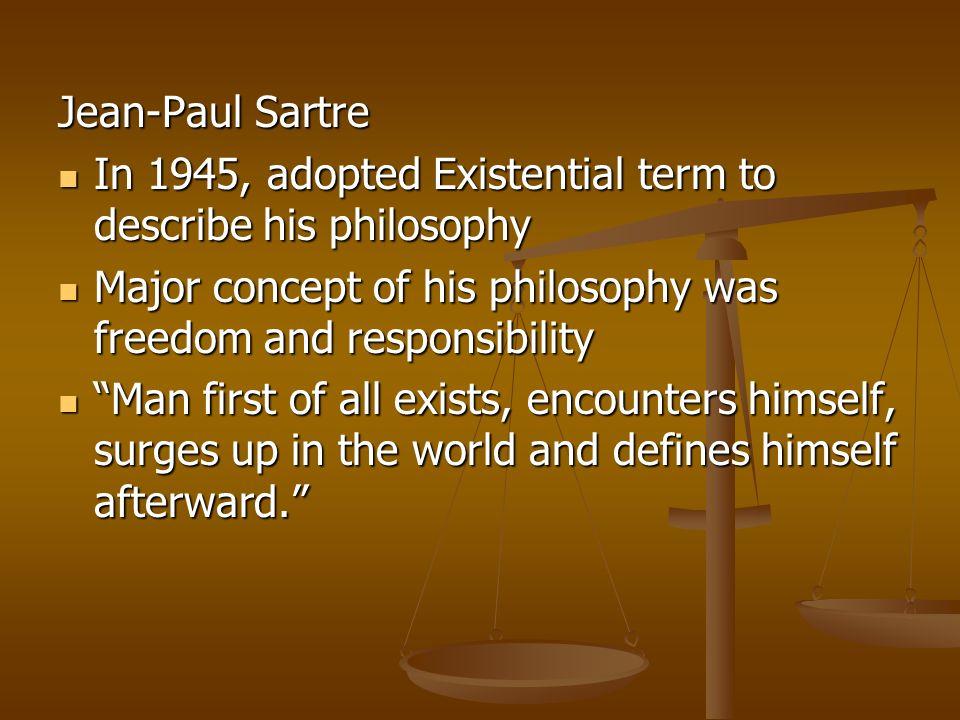 an analysis of jean paul sartres beliefs about experience Free jean-paul sartre an analysis of jean paul sartres beliefs about experience papers and research papers wij willen hier een beschrijving geven.