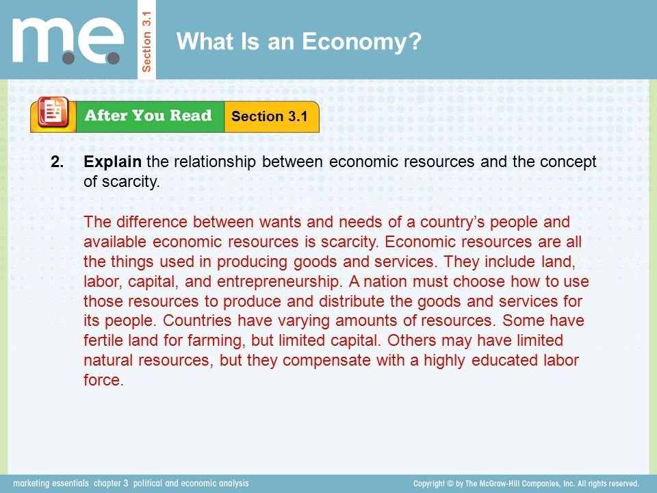 what is the relationship between scarcity and economics