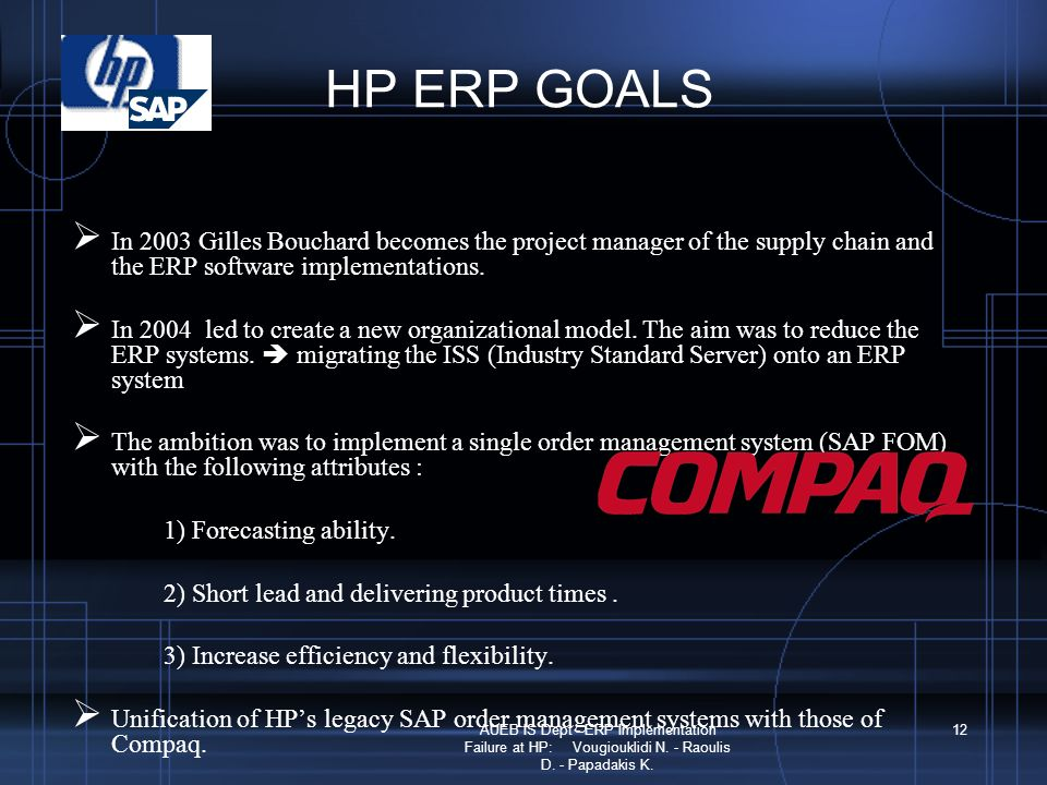 erp at hp San francisco – october 26, 2016: financialforce, the leading erp provider  on the salesforce platform, today announced it is working with hewlett packard.