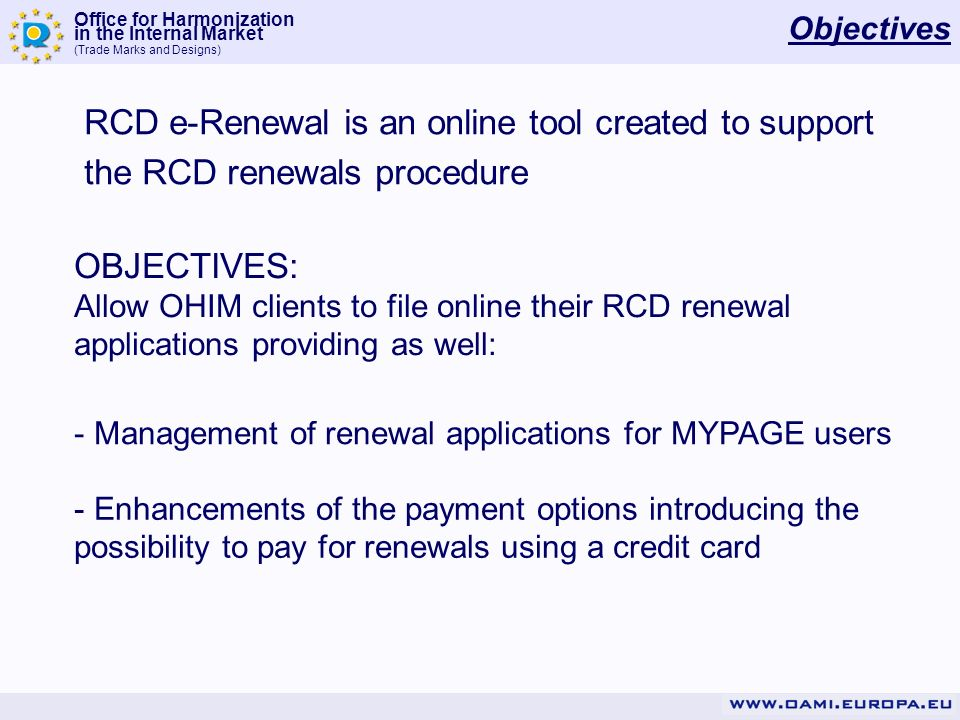 RCD e-Renewal is an online tool created to support