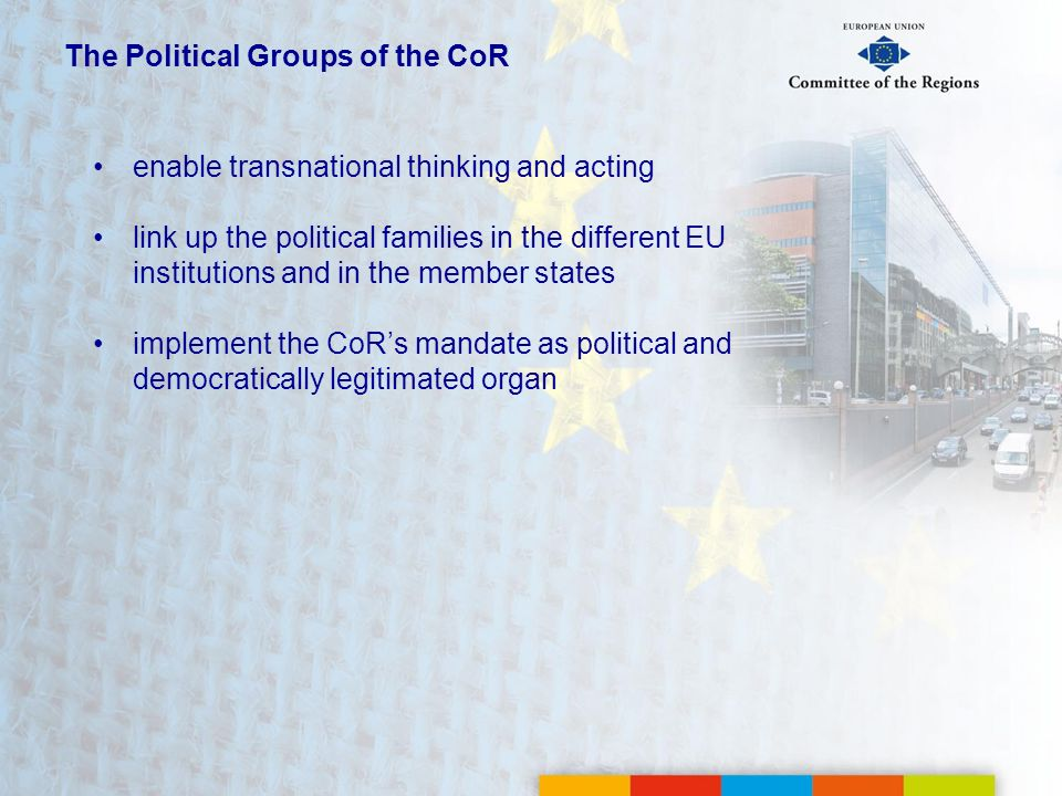 The Political Groups of the CoR
