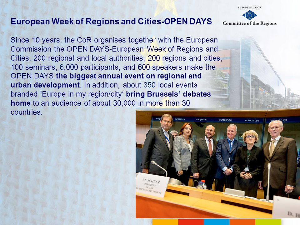 European Week of Regions and Cities-OPEN DAYS