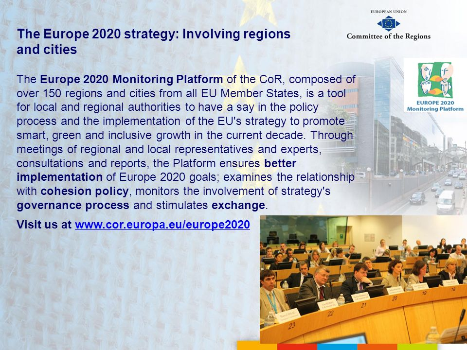 The Europe 2020 strategy: Involving regions and cities