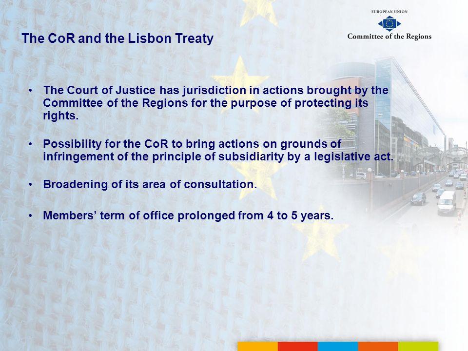 The CoR and the Lisbon Treaty