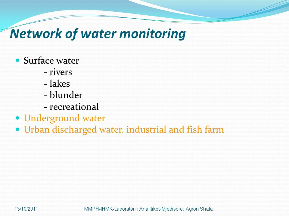 Network of water monitoring