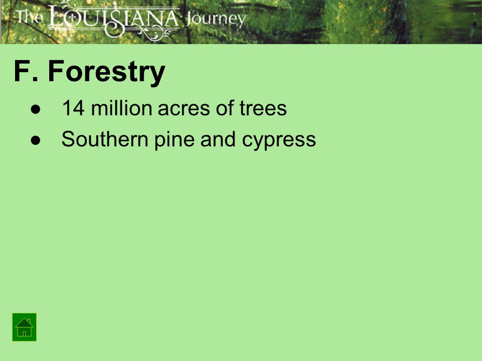Natural Resources That Are Harvested In Louisiana