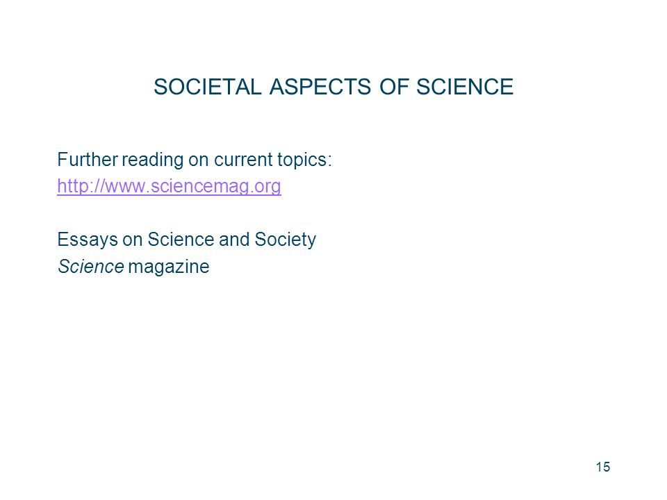 Science And Society Essay By
