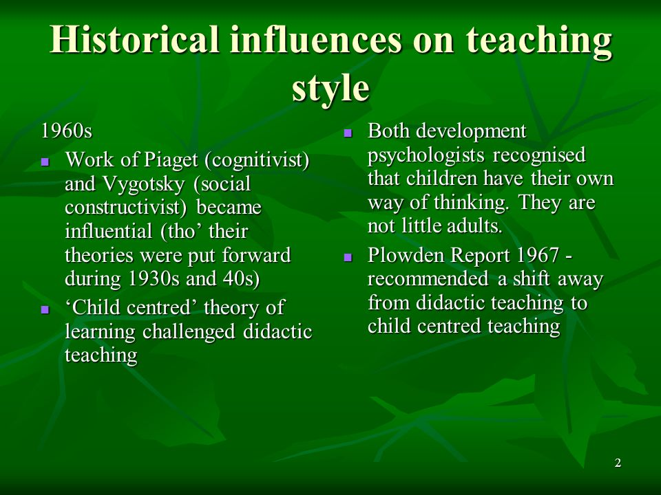 influences in teaching Internal and external influences on the university teachers in abstract there are so many influences a faculty member has to undergo at the higher education level in universities in semester sound teaching environment keywords: influences on university teachers, semester system.