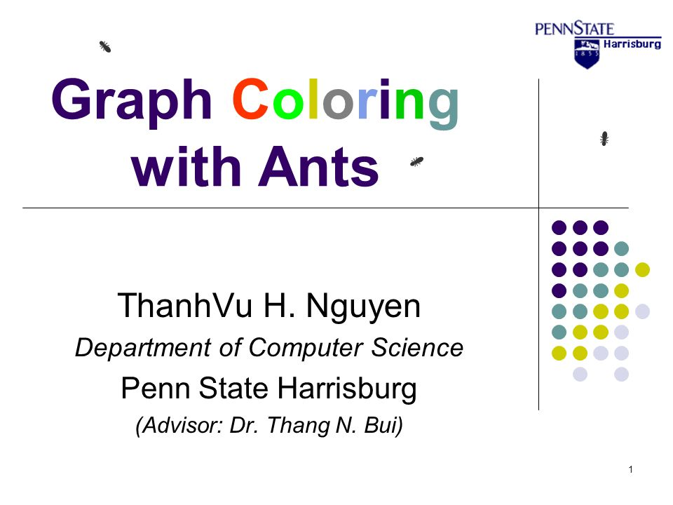 Graph Coloring With Ants