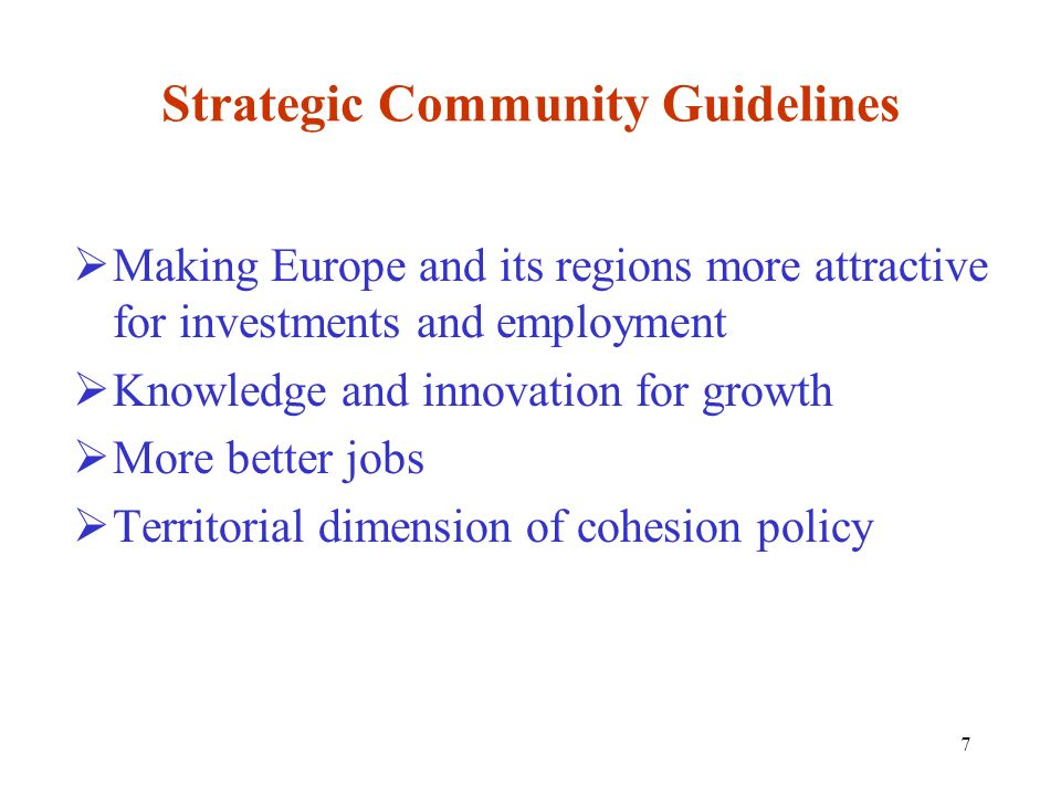 Strategic Community Guidelines