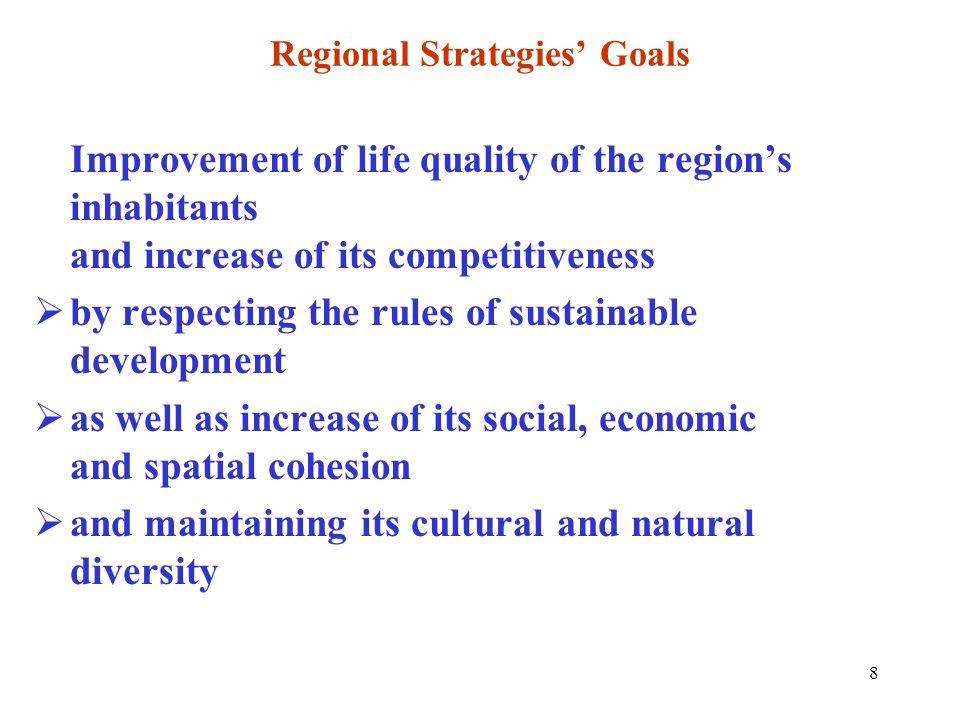 Regional Strategies' Goals