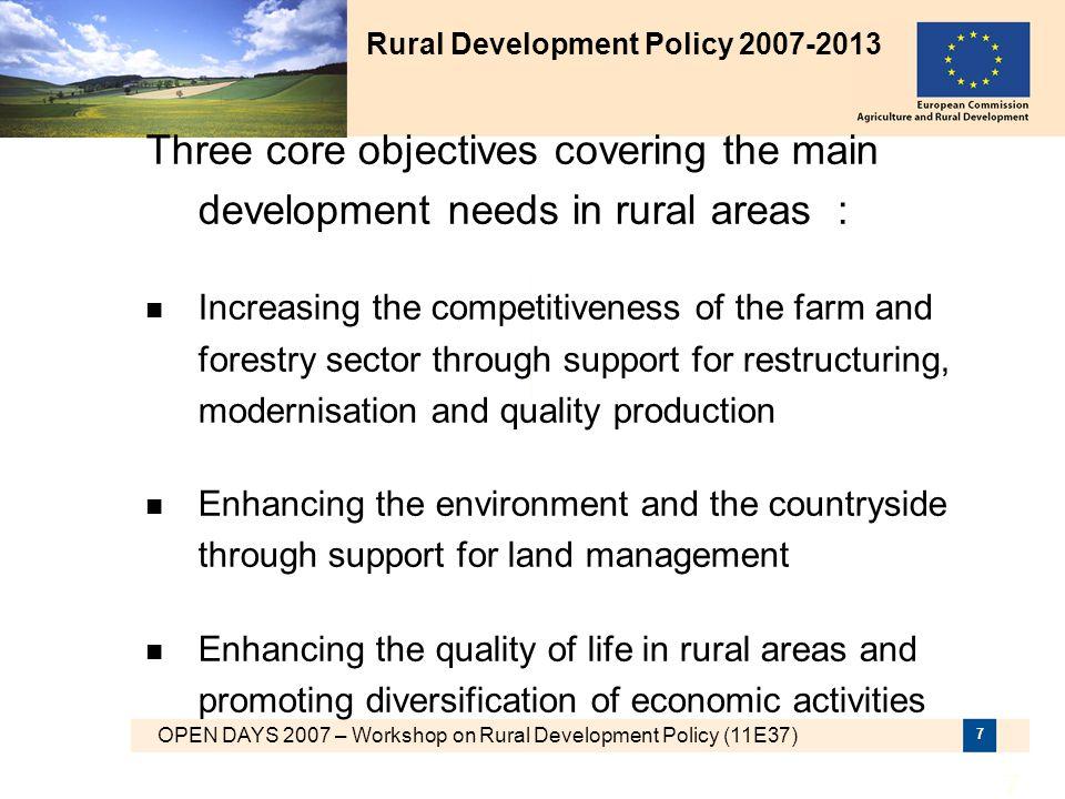Rural Development Policy 2007-2013