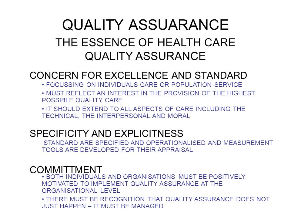 What Is Quality Assurance in Health Care?