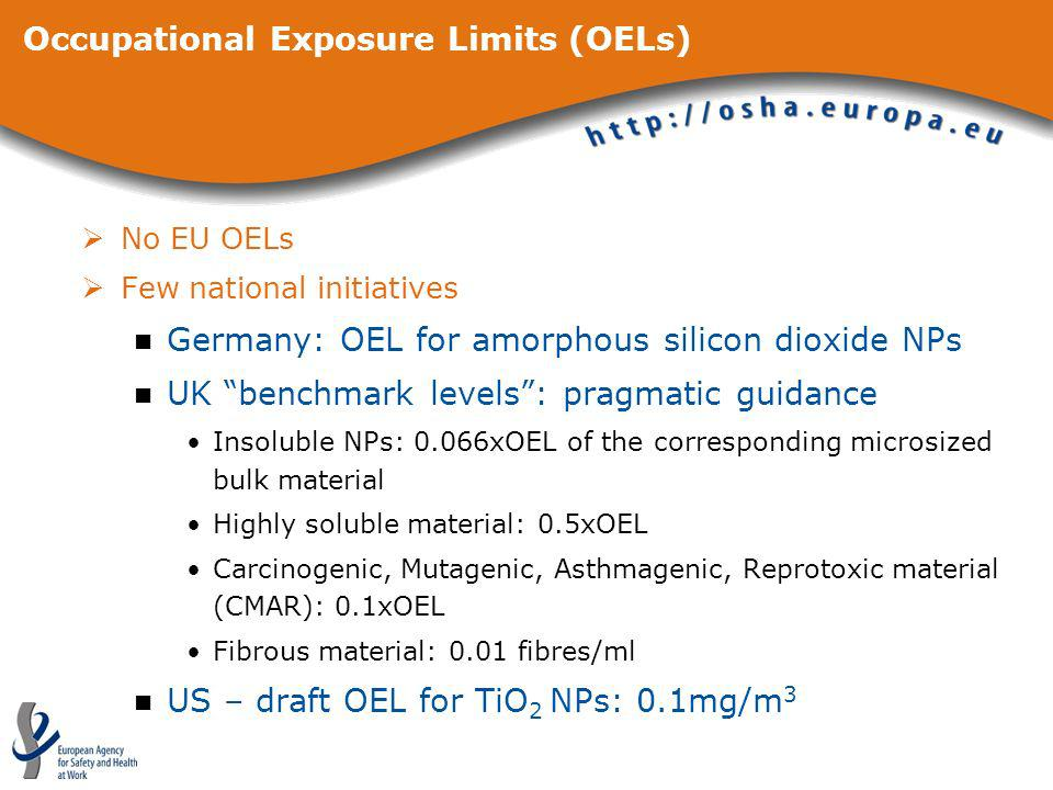 Occupational Exposure Limits (OELs)