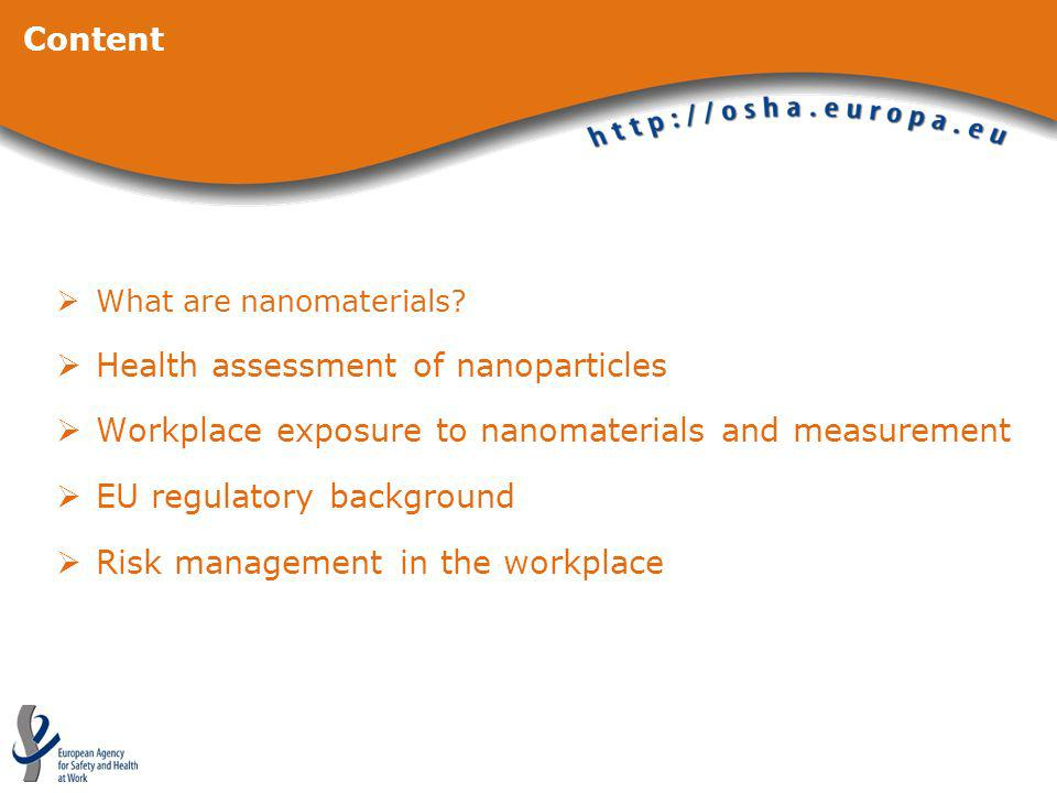 Health assessment of nanoparticles