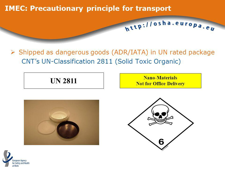 IMEC: Precautionary principle for transport