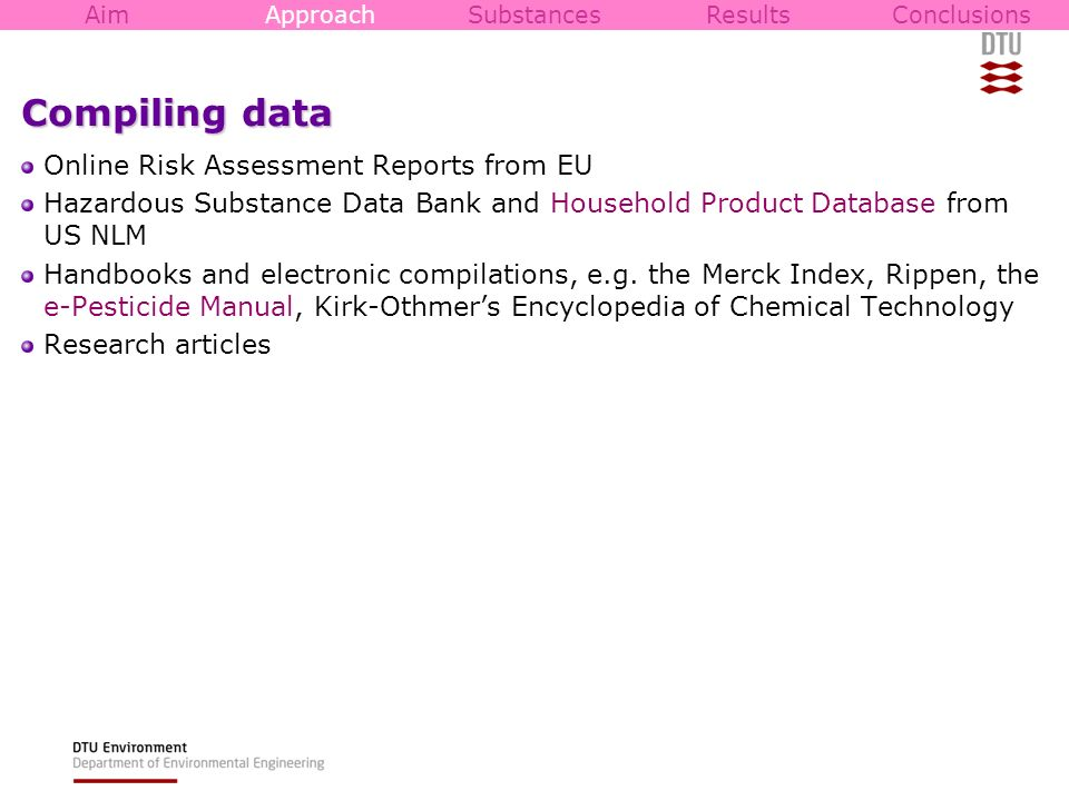 Compiling data Online Risk Assessment Reports from EU