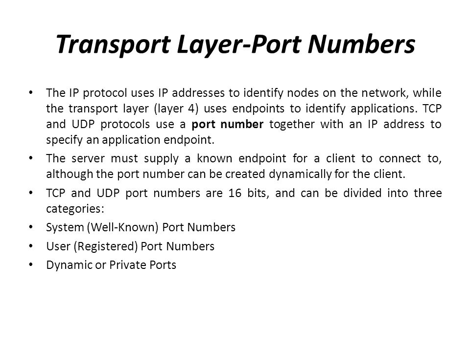 Transport Layer-Port Numbers