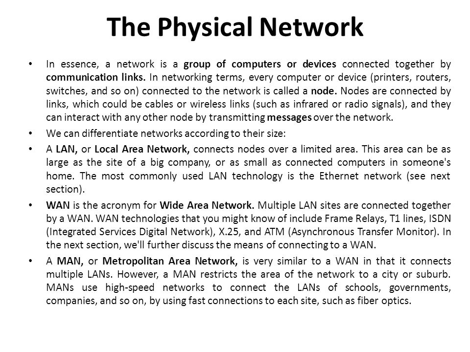 The Physical Network