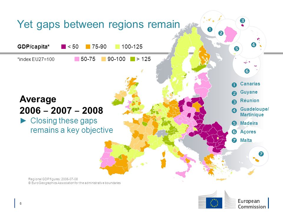 Yet gaps between regions remain